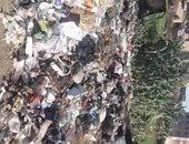 شكوى من تراكم القمامة فى مدخل قرية دنديط مركز ميت غمر التابع بالدقهلية