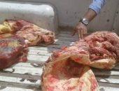 لجنة طبية تفحص مصنعات لحوم فاسدة ضبطت داخل ثلاجة فى العمرانية