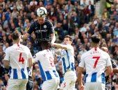 مانشستر سيتي يسجل الثاني ضد برايتون في الدقيقة 38 ويستعيد صدارة الدوري