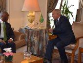 أبو الغيط يناقش مع وفد أفريقى دعم الاستقرار والتنمية فى منطقة القارة
