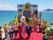The Angry Birds تحتفل بمهرجان كان السينمائى على طريقة اللعبة.. فيديو وصور