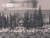 شاهد.. كيف كانت صلاة الجمعة فى شهر رمضان بالقدس عام 1966