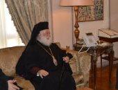وزير الخارجية يبحث مع البابا ثيودوروس الثانى أنشطة الكنيسة بالدول الأفريقية