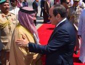 صور.. الرئيس السيسي يودع ملك البحرين بمطار القاهرة فى ختام زيارته لمصر