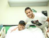 رمضان صبحى فى زيارة لمستشفى 57357: هؤلاء هم الأبطال الحقيقيين