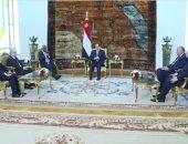 شاهد.. تفاصيل لقاء السيسى ورئيس جنوب إفريقيا الأسبق ورئيس برلمان غانا