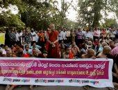 صور.. رهبان بوذيون بسريلانكا يتظاهرون احتجاجا على هجمات ضد المسلمين