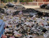 تراكم القمامة فى صقر قريش بمدينة نصر أمام المدرسة الابتدائى