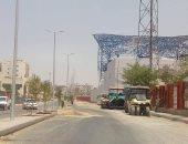 فتح شارع صالة البولينج واستمرار تطوير مدينة نصر استعدادًا لبطولة أفريقيا