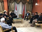 صور .. أقباط بورسعيد يقدمون التهنئة بذكرى العاشر من رمضان للواء عادل الغضبان