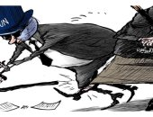 كاريكاتير.. خبث جماعة الحوثى يعرقل الحلول السلمية لإنهاء أزمة اليمن