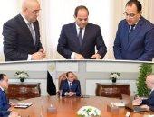 فيديو.. اجتماع الرئيس بمدبولى والجزار بشأن مشروعات العاصمة الإدارية