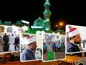 أيام البركة.. إقبال كثيف من المصلين لتأدية صلاة التراويح بمسجد السيدة زينب
