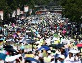 صور.. الآلاف يشاركون فى مسيرة لتجريم الإجهاض فى المكسيك