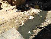 منذ أكثر من شهر.. مياه الصرف تغرق شارع باب الشعرية بالزقازيق