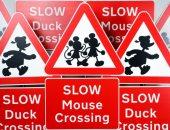 ميكى ماوس فى إشارات المرور ببريطانيا.. اعرف السبب؟