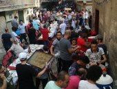 أهالى المطرية يشاركون فى الإفطار الجماعى السنوى
