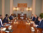 شكرى يستقبل وفد مفوضية الاتحاد الأفريقى المعنى باتفاقية التجارة الحرة القارية