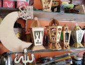 صور.. فوانيس خشب الأركيت صناعة عتيقه بالفيوم.. تعرف على حكايتها
