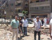 حملة لوقف بناء مخالف وإزالة إشغالات وغلق كافيهات مخالفة بحدائق القبة