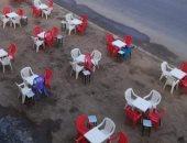 المقاهى تقطع راحة أهالى العاشر من رمضان وتشغل الأرصفة