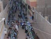 """موائد الخير.. إفطار جماعى بساحة الشيخ أحمد مرتضى بمحافظة الأقصر """"صور"""""""