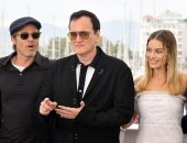 """دى كابريو وبيت وروبى وترانتينو بـ PHOTO CALL فيلمهم الجديد بفعاليات """"كان"""""""