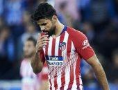 إصابة كوستا بإلتواء فى الكاحل خلال ودية أتلتيكو مدريد وبيتار القدس