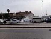 اشتعال النار فى سيارة بسبب ارتفاع درجات الحرارة بهليوبوليس