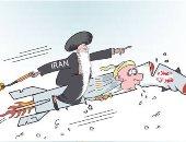 عملاء طهران فى كاريكاتير عكاظ السعودية