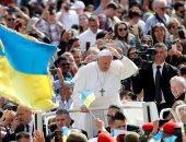 صور.. البابا فرنسيس يبدأ اجتماعه الأسبوعى بالفاتيكان
