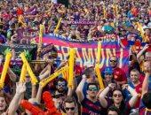 6300 مشجع يدعمون برشلونة ضد فالنسيا بنهائى كأس ملك أسبانيا
