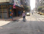 صورة .. تعرف على خطة رصف الشوارع فى حى غرب الإسكندرية