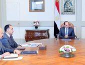 السيسى يستعرض الموقف التنفيذى للمشروعات القومية الخاصة بقطاع الاتصالات