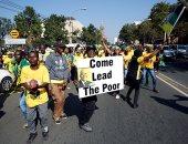 """أنصار جاكوب زوما فى جنوب أفريقيا يتظاهرون تحت شعار"""" قائد الفقراء"""""""