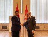 سفير مصر فى بلجراد يبحث التعاون الثنائى مع وزير حماية البيئة الصربى