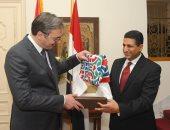 رئيس صربيا يهنئ المسلمين بشهر رمضان فى إفطار سفير مصر ببلجراد