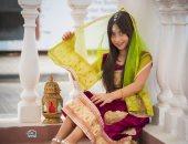 """""""بالسارى الهندى والفانوس"""" مصور يشارك بـ""""فوتوسيشن"""" أزياء رمضانية للأطفال"""