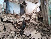 صور.. انهيار منزل مكون من طابقين بأم القصور فى أسيوط