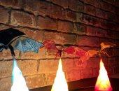 هوس Game of Thrones.. شاب يصنع مصباحا على شكل تنين المسلسل.. صور