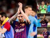 """برشلونة يدعم لاعبيه عبر """"تويتر"""" بعد خسارة كأس ملك إسبانيا"""