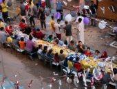 فيها حاجة حلوة.. مائدة واحدة جمعت أهالى عزبة النخل فى فطار رمضان