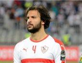 محمود علاء من مران الزمالك لمواجهة الطلائع والحدود بسبب شقيقه