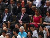 """شاهد.. رد فعل """"ترامب"""" بعد مشاهدة مصارعة """"السومو"""" فى اليابان"""