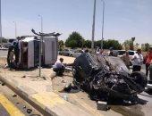 إصابة شخصين فى حادث على الطريق الصحراوى الشرقى بمحافظة بنى سويف