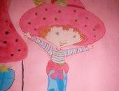 الطفلة هاجر تشارك برسوماتها الكرتونية.. وتؤكد فى الريف ما فيش اهتمام بالرسم