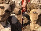 فيديو.. اكتشاف رأس تمثال إله ديونيسوس صانع البهجة فى روما