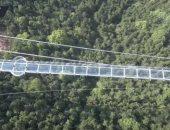 فيديو.. تعرف على أطول جسر من الزجاج فى العالم