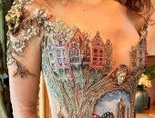 """صور.. """"سيلفى فاكون"""" تصمم فساتين زفاف خيالية تدهش مصممى الأزياء"""