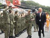 صور.. ترامب يختتم زيارته لطوكيو بزيارة أكبر سفينة حربية فى اليابان